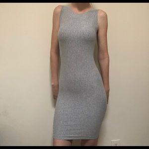 Vintage Form Fitting Soft Grey Dress Size XS